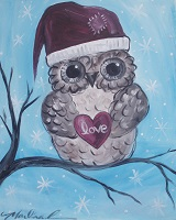 Painting - Christmas Owl
