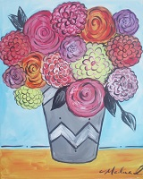 Painting - Dhalia Bouquet