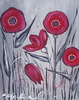 Painting - Modern Poppies