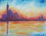 Painting - Monet Inspired Sunset in Venice