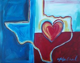 Painting - Peter Max Inspired - Flag of Texas