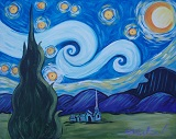 Painting - Van Gogh Inspired - Starry Night