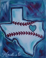 Painting - Texas Baseball