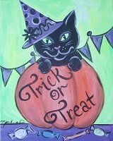 Painting - Trick or Treat